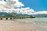 Stock Photo of Hanalei Bay, Kauai Island - Hawaii