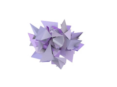 3d abstract purple spiked shape on white - stock footage