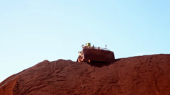 Iron Ore Tractor Stock Footage