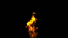 Burning torch texture with alpha, loop Stock Footage