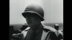 WW2 - Patton 03 - Vehicle Convoy Stock Footage