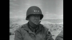 WW2 - Patton 06 - Visit Troops Stock Footage
