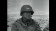 Stock Video Footage of WW2 - Patton 06 - Visit Troops
