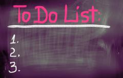 To do list concept Stock Illustration