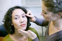 Dermatology consultation woman Stock Photos