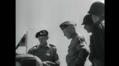 WW2 - Patton 08 - Talking To Commander Stock Footage