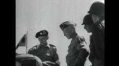 WW2 - Patton 08 - Talking To Commander - stock footage