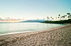 West Maui's famous Kaanapali beach Stock Photos
