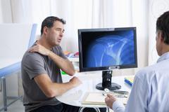 Rheumatology consultation man Stock Photos