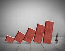 Crisis and failure concept Stock Illustration