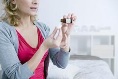 Stock Photo of herbal medicine, woman