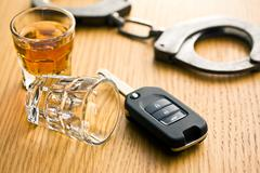 concept for drink driving - stock photo