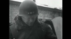 WW2 - Patton 18 - Troop visit and Celebrations Stock Footage