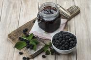Stock Photo of blackberry jam