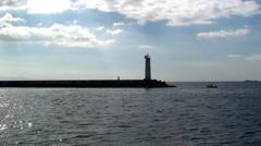 Sealight exit Istanbul harbor HD Stock Footage