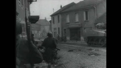 Stock Video Footage of WW2 - Soldiers Firing 02 - Mg Grenade -House - Urban Warfare
