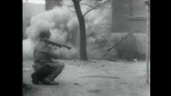 Stock Video Footage of WW2 - Soldiers Firing 03 - Rocket Launcher MG Tanks