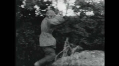 WW2 - Soldiers Surrender 01 - German Wehrmach surrenders Stock Footage