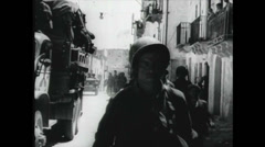 WW2 - Soldiers - LiberationTroops in City 01 Stock Footage