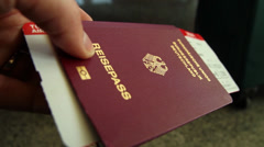 German passport - HD Stock Footage