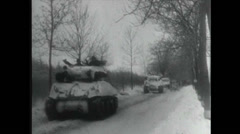 WW2 - Tank Convoy 01 - Jeeps Driving Stock Footage