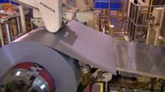 Machine - Cutting sheet metal Stock Footage