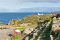 Stock Photo of Path to Lands End Cornwall England UK English tourist attraction