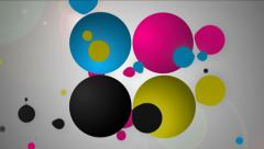 Paint splash of cyan, magenta, yellow and black. Stock Footage