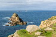Stock Photo of View from Lands End Cornwall England UK English tourist attraction