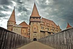 Hunedoara castle, Transylvania, Romania - stock photo