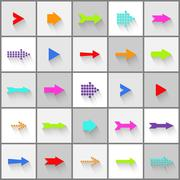 Stock Illustration of arrow sign icon vector set