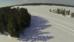 Lake Winter - Aerial 02 Stock Footage