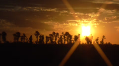 Sunset, Sunrise, Zoom Out Stock Footage
