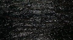 Black water with small ripples and highlights of river Stock Footage