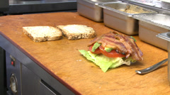 Making of a large BLT (1 of 2) Stock Footage