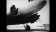 Stock Video Footage of WW2 - US Air Force - Aircraft Towing 06 - Starting DC-3 with Hadrian