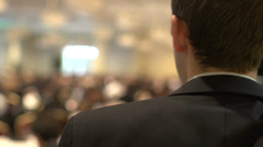 Attending a business conference (3 of 8) - stock footage