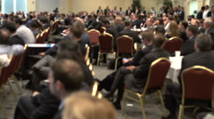 Stock Video Footage of Attending a business conference (5 of 8)