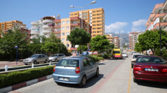 Mehmet Cakir street with hotels. Turkey income from tourism Stock Footage