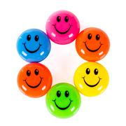 colorful smileys - stock photo