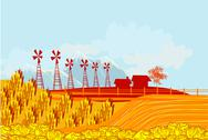 Stock Illustration of eco farming - landscapes