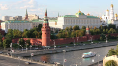 Grand Kremlin Palace in Moscow, Russia. Stock Footage
