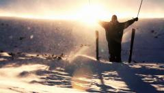 Hope in Hard Times Concept Mountain Success Religious Stock Footage