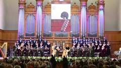 Orchestra at Gala evening dedicated to the 100th anniversary Stock Footage