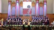 Stock Video Footage of Orchestra at Gala evening dedicated to the 100th anniversary