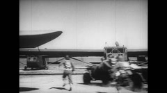 WW2 - US Air Force - Loading Aircrafts 03 - Soldiers getting into Gliders - stock footage