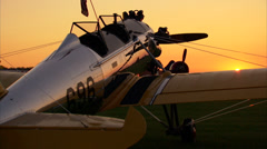 PT-22 Ryan at Sundown Stock Footage