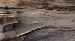 Geology - Sedimentary structures - Planar / Varve Layers Stock Footage