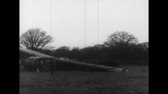 WW2 - US Air Force - Aircrafts 04 - Crashed Gliders Stock Footage
