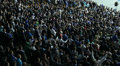 Thousand football fans, fan sector football game clapping sync HD Footage